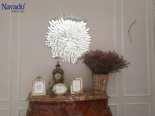 Gương trang trí phòng khách Natural