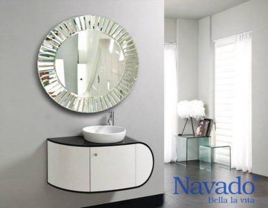 Gương trang trí nghệ thuật nhà tắm phong cách hiện đại
