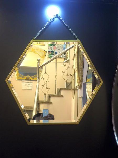 Gương trang trí lục giác