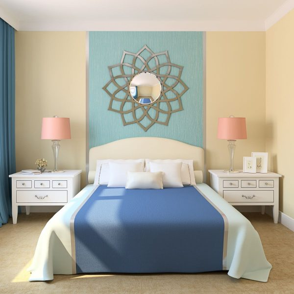 Gương nghệ thuật phòng khách Poinsettia