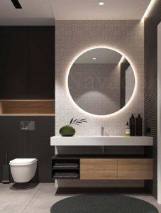 Gương trang trí nội thất nhà tắm đèn led