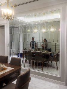 những mẫu gương trang trí phòng ăn